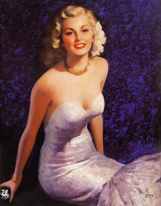 ma Elvgren A Real Knock Down. Gil Elvgren
