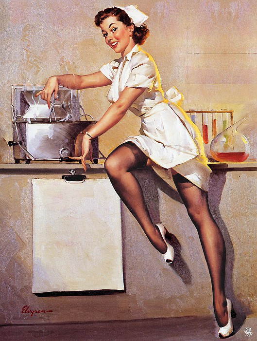 ma Elvgren Now Dont Ask Me What Is Cookin. Gil Elvgren