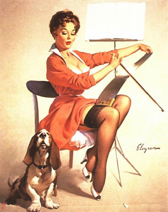 GCGEPU-008 1957 Doggone Good. Gil Elvgren