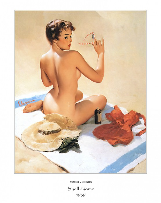 PYG GE 062 Shell Game Shell Shocked 1959. Gil Elvgren