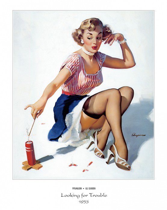 PYG GE 002 Looking for Trouble 1953. Gil Elvgren