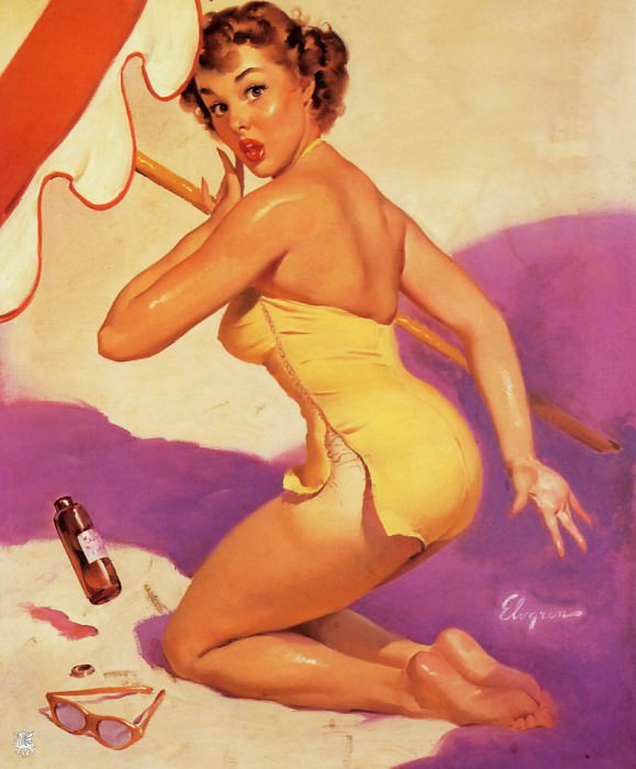 ma Elvgren Hard to Suit. Gil Elvgren