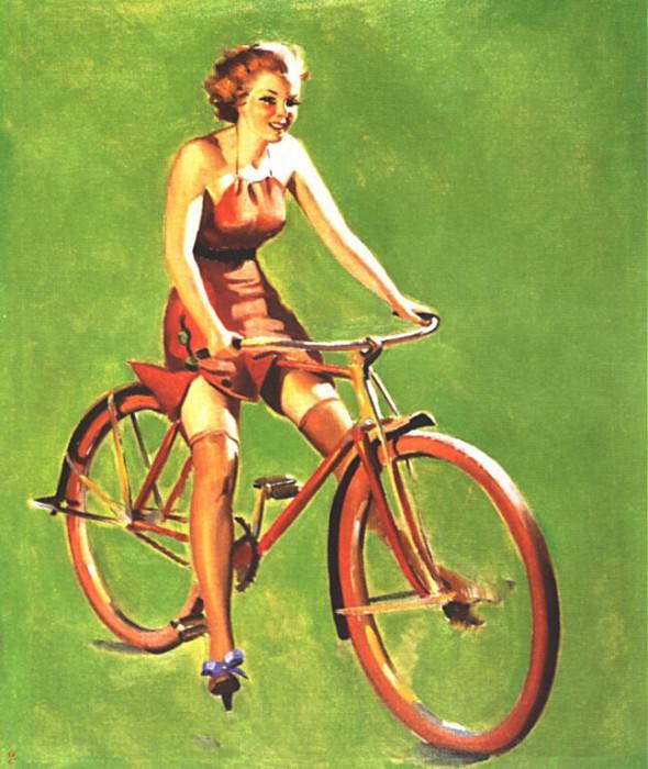 GCGEPU-069 1937 Free Wheeling. Gil Elvgren