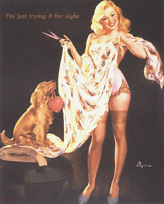 GCGEPU-019 1948 Im Just Trying It for Sighs. Gil Elvgren