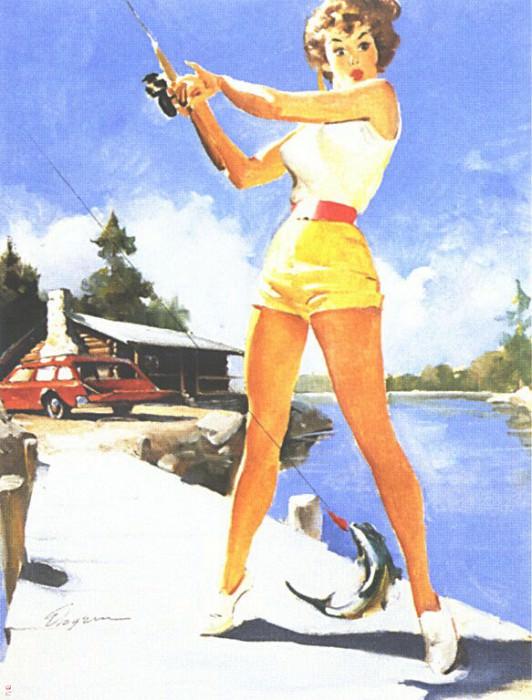 GCGEPU-113 1968 NAPA advertisement. Gil Elvgren