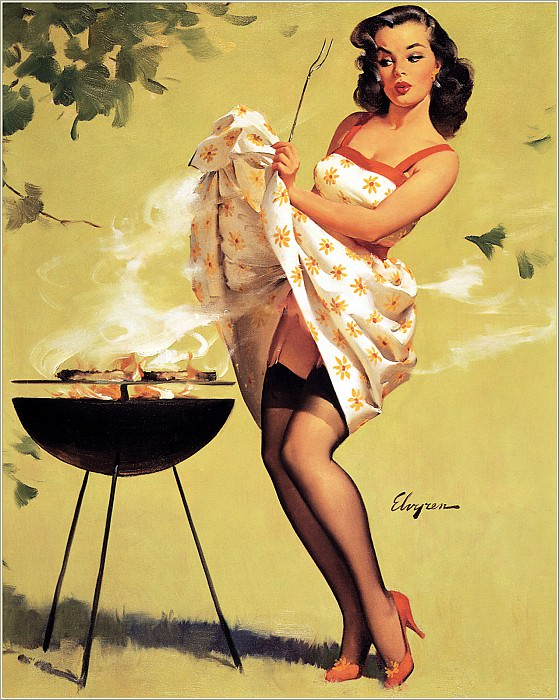 Cos 005 Gil Elvgren Smoke Screen. Gil Elvgren