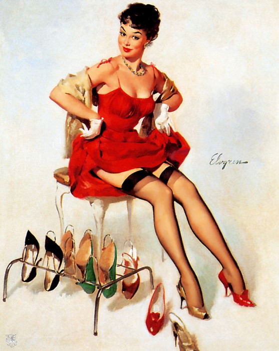 ma Elvgren What Do You Think. Gil Elvgren