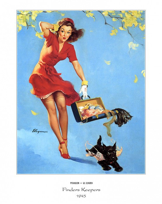 PYG GE 048 Finders Keepers 1945. Gil Elvgren