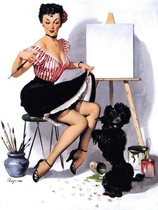 Elvgren, Gil - Some Help (end. Gil Elvgren