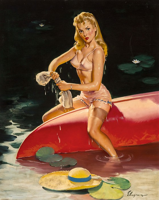 We Had a Little Falling Out. Gil Elvgren