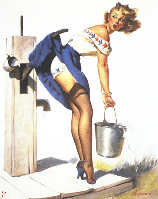 GCGEPU-006 1952 Handle With Care. Gil Elvgren