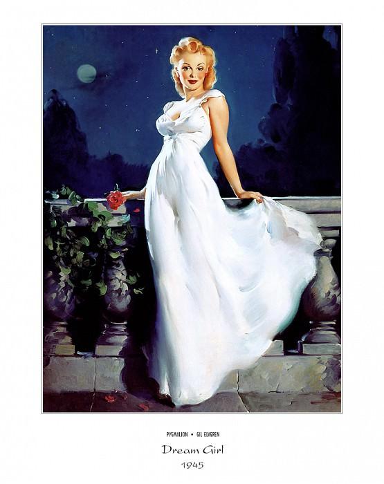 PYG GE 027 Dream Girl 1945. Gil Elvgren