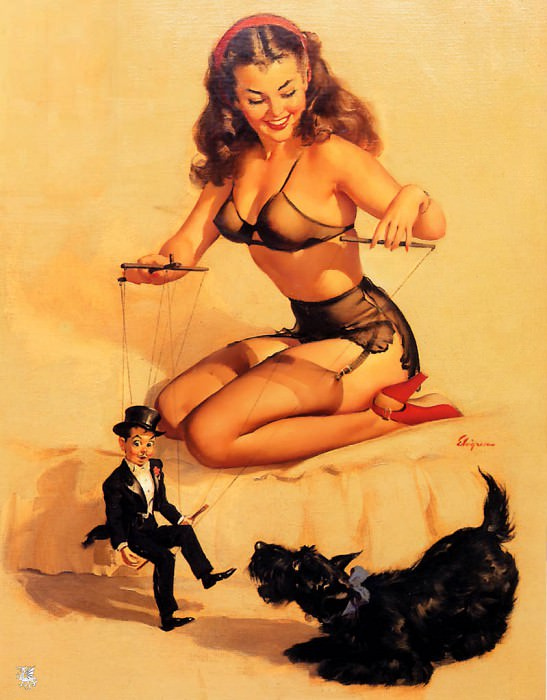 ma Elvgren They Are Easy to Handle. Gil Elvgren