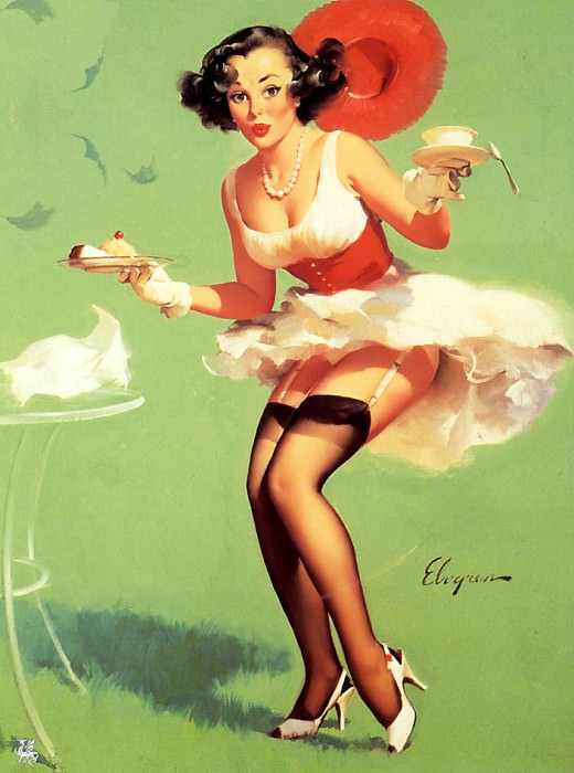 ma Elvgren Fresh Breeze. Gil Elvgren