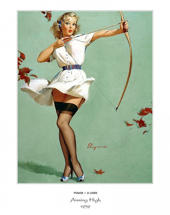PYG GE 046 Aiming High Will William Tell 1959. Gil Elvgren