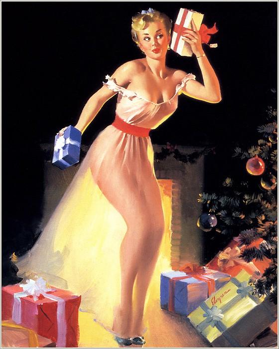 Cos 033 Gil Elvgren A Christmas Eve. Джил Элвгрен