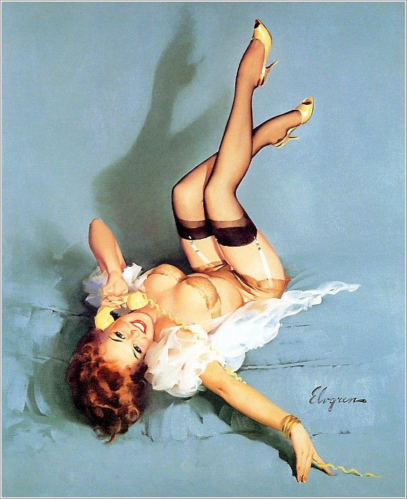 Cos 029 Gil Elvgren The Right Number. Gil Elvgren