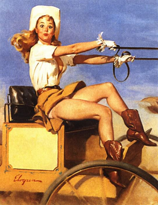GCGEPU-148 1970 Riding High. Gil Elvgren