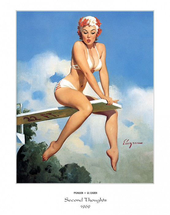 PYG GE 009 Second Thoughts 1969. Gil Elvgren