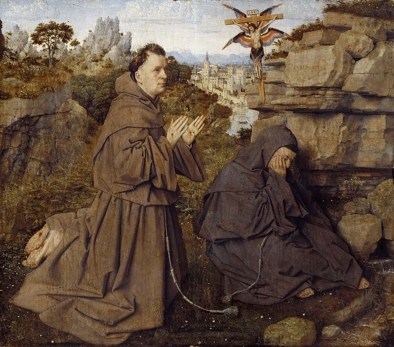 Saint Francis of Assisi Receiving the Stigmata. Jan van Eyck