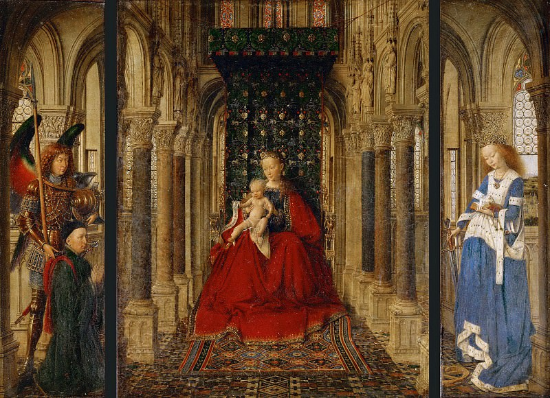 Dresden Triptych. Jan van Eyck