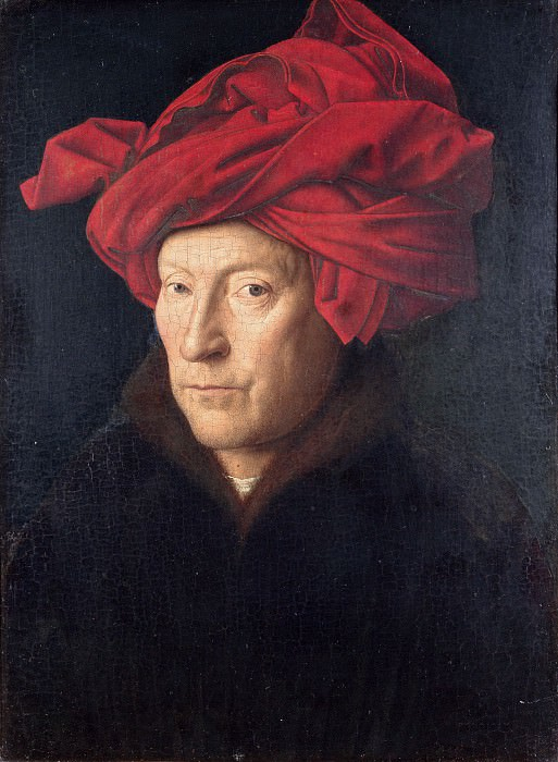 Portrait of a Man (Self Portrait ?). Jan van Eyck