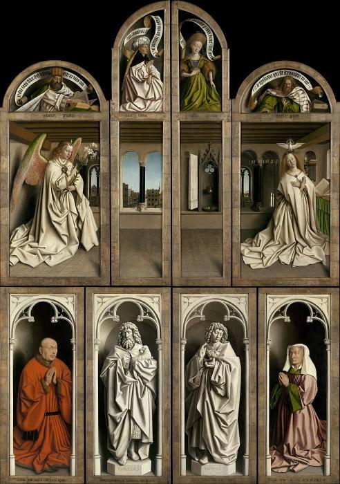 Ghent Altarpiece with wings closed. Jan van Eyck