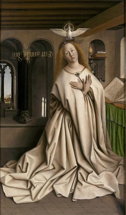 Mary of the Annunciation. Jan van Eyck