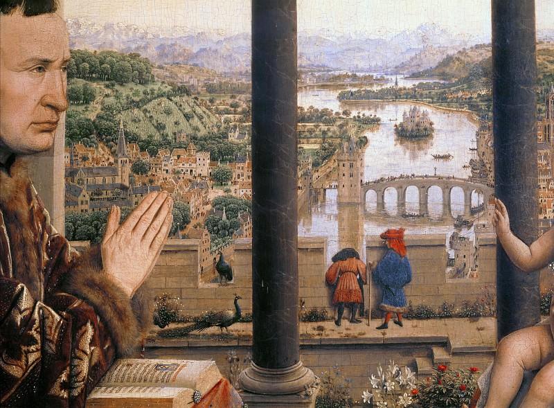 The Madonna of Chancellor Rolin (detail). Jan van Eyck