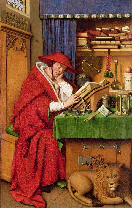 Saint Jerome in His Study. Jan van Eyck
