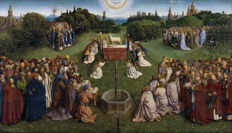 The Adoration of the Mystic Lamb. Jan van Eyck