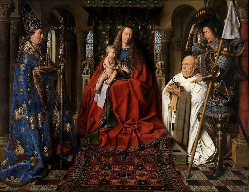 The Madonna with Canon van der Paele. Jan van Eyck