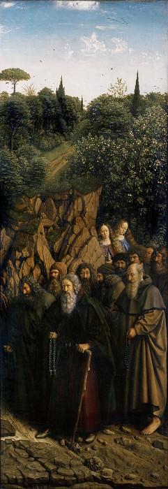 The Holy Hermits. Jan van Eyck