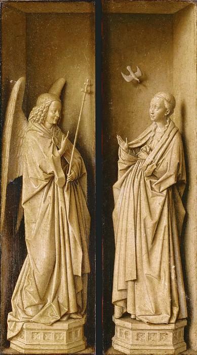 Dresden Triptych (close). Jan van Eyck