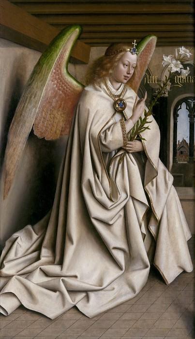 Angel of the Annunciation. Jan van Eyck