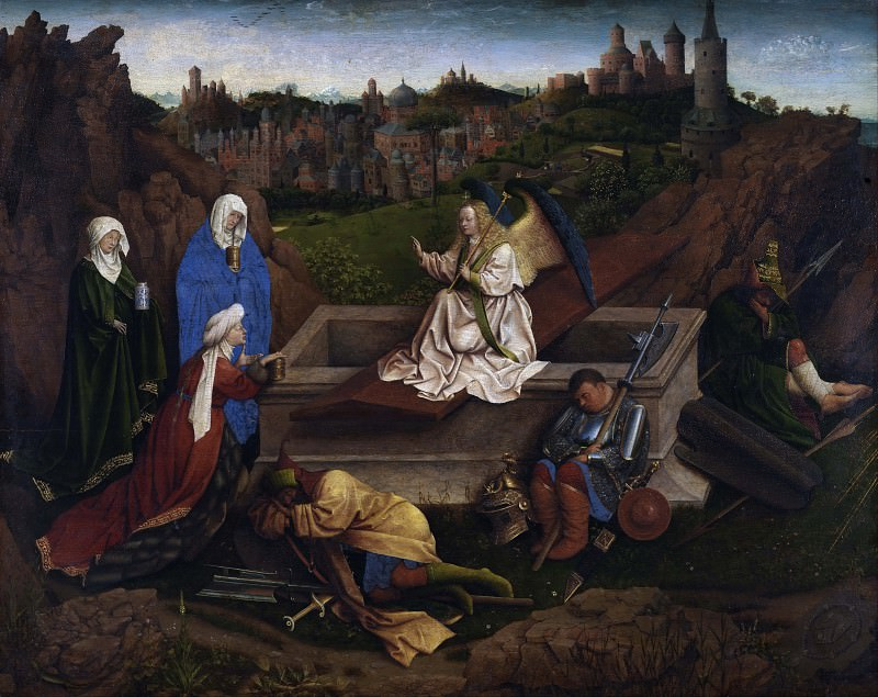 The Three Marys at the Tomb (or Hubert van Eyck). Jan van Eyck