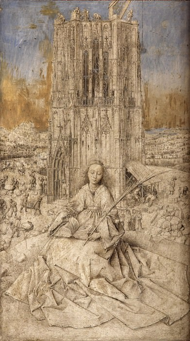 St Barbara. Jan van Eyck