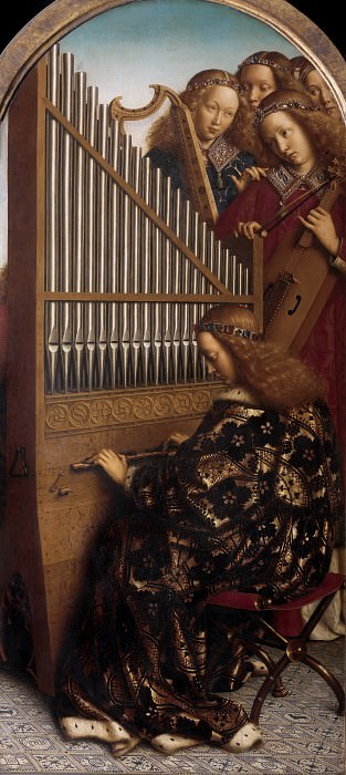 Angels Playing Music. Jan van Eyck
