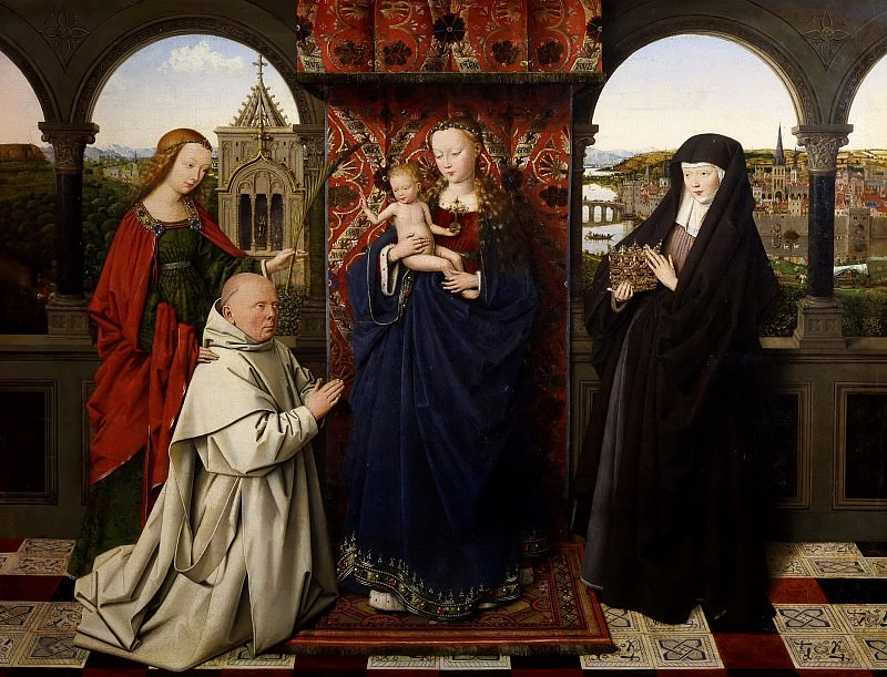Madonna and Child with Saints and a Donor (and workshop). Jan van Eyck