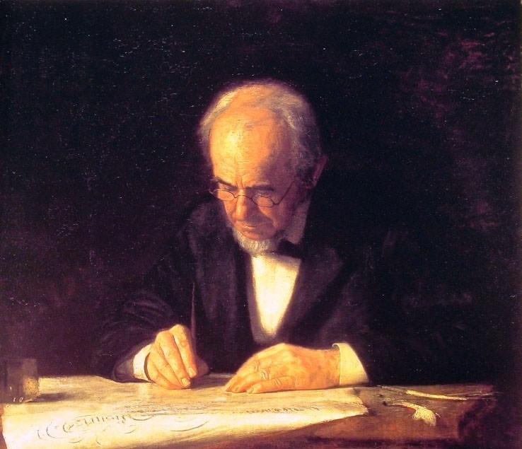 The Writing Master. Thomas Eakins