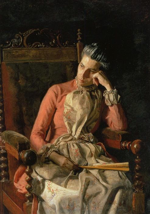 Portrait of Amelia Van Buren. Thomas Eakins