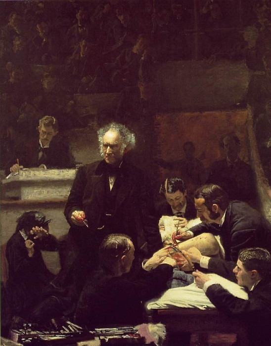 THE GROSS CLINIC 1875 JEFFERSON MEDICAL COLLEGE OF TH. Thomas Eakins
