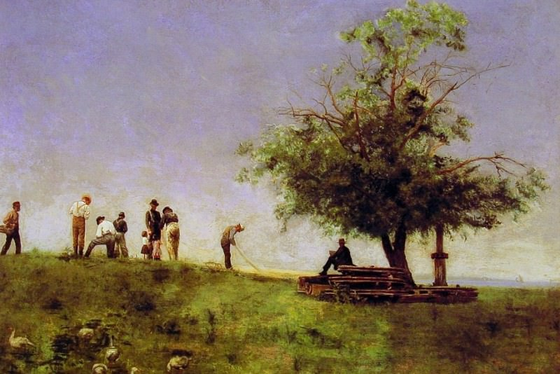 Mending the net. Thomas Eakins