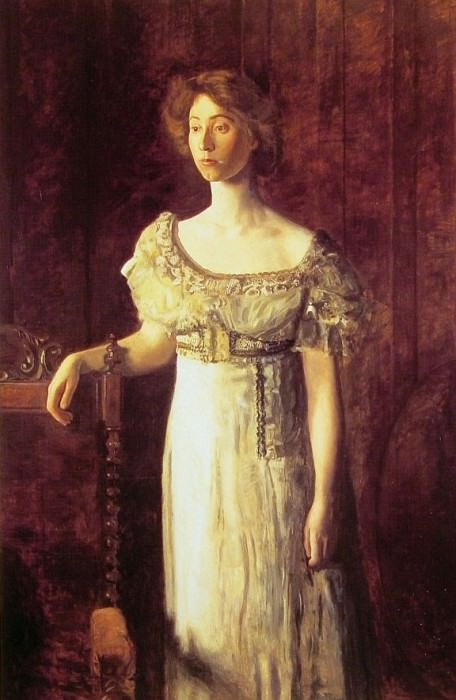 The Old Fashioned Dress-Portrait of Miss Helen Parker. Thomas Eakins