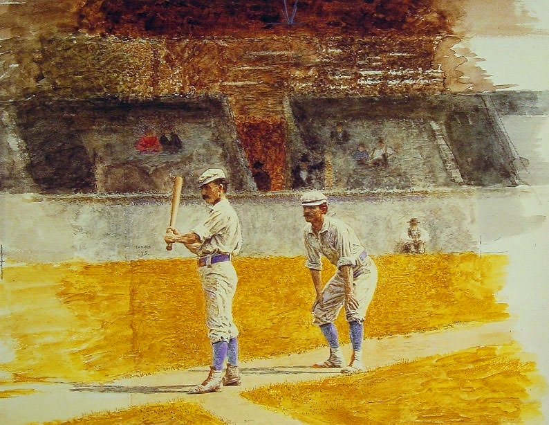 Baseball Players Practicing. Thomas Eakins