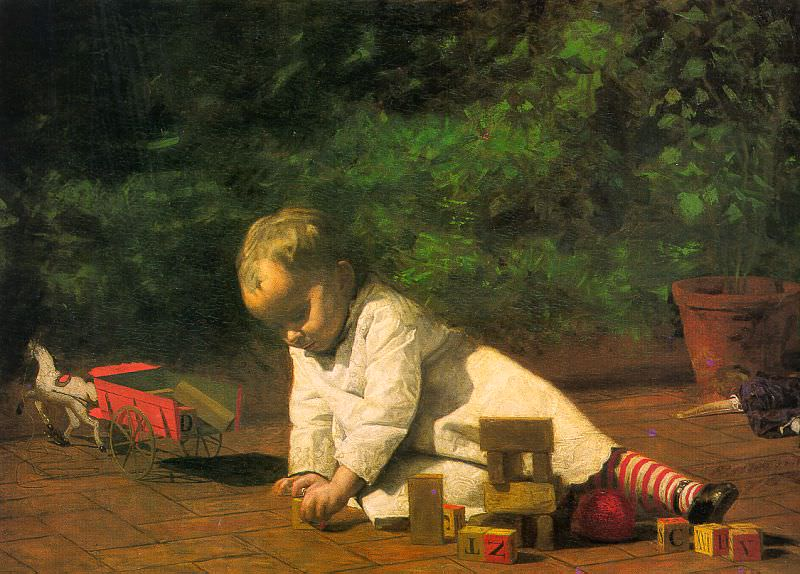Baby at Play, 1876, oil on canvas, National Gallery o. Thomas Eakins