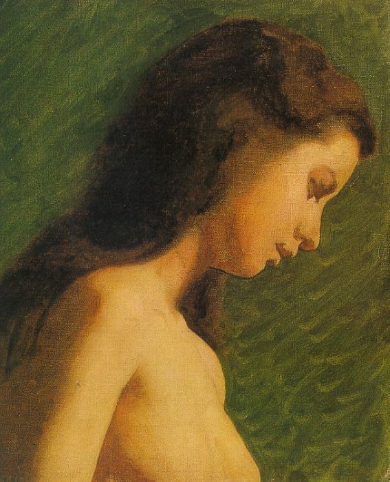 Eakins Study of a Girls Head, 1868-69, oil on canvas, Phila. Thomas Eakins