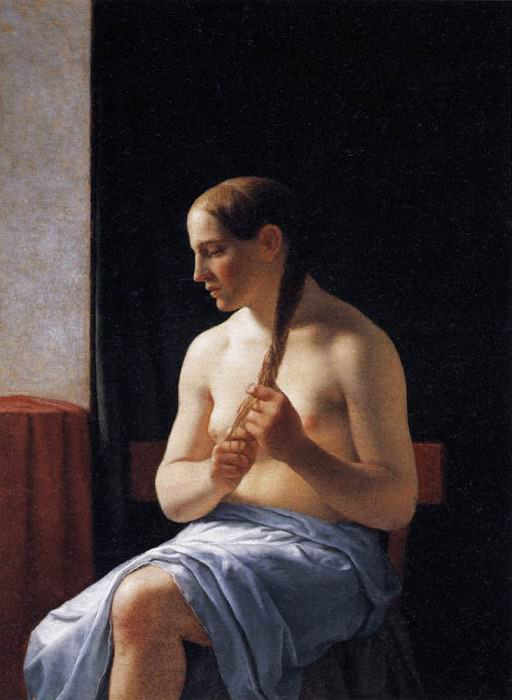 Seated Nude Model. Christoffer Wilhelm Eckersberg