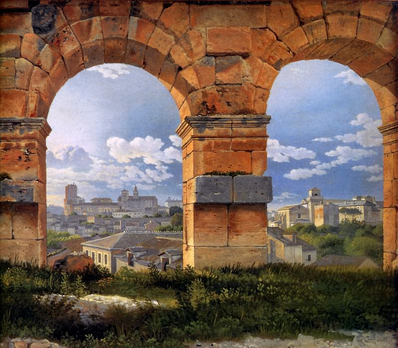 View through three arches of the Colos. Christoffer Wilhelm Eckersberg