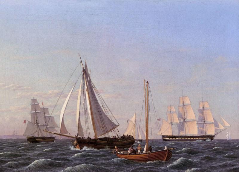 Wilhelm Sailing Ships. Christoffer Wilhelm Eckersberg